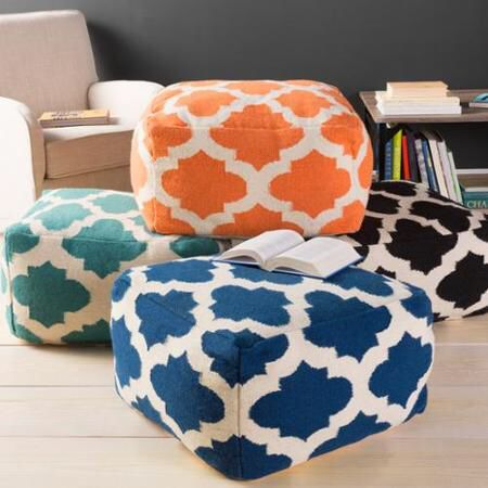 Epitomising 'happy Chic' These Floor Poufs Seamlessly Combine Pop Impressive Urban Foundry Pouf