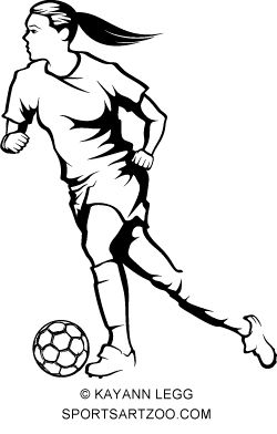 Female Soccer Player Dribbling Sportsartzoo Soccer Drawing Football Drawing Female Soccer Players