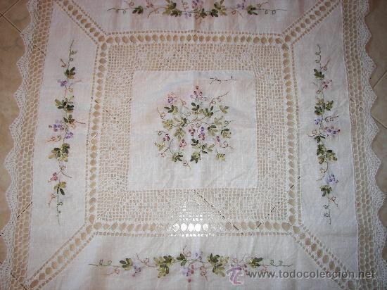 Manteles bordado en cinta imagui ideas para el hogar pinterest bordados en cinta mantel - Manteles bordados ...