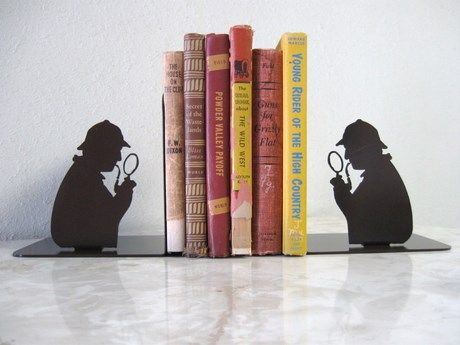 Sherlock Holmes Detective bookends