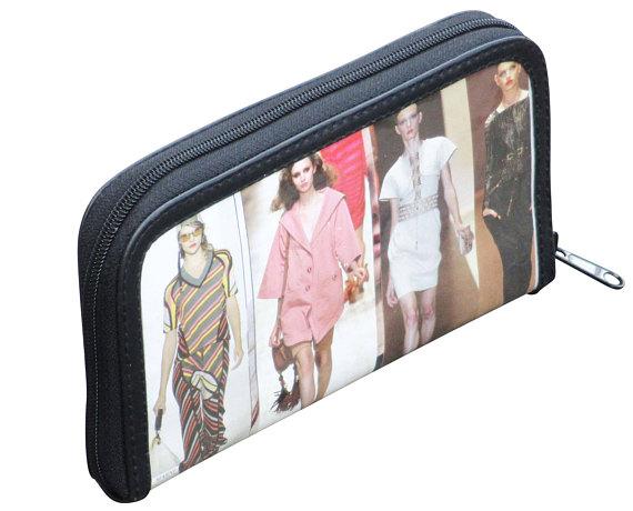 Medium zipper wallet made from fashion magazine paper FREE SHIPPING ... c57771c8dec5f