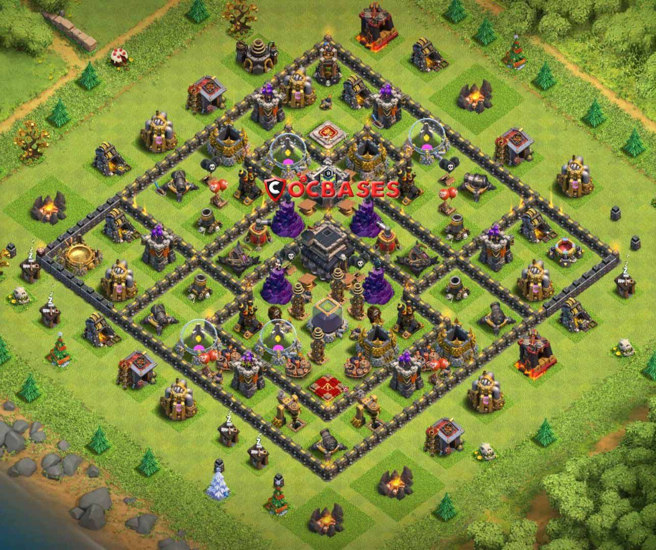 Base Coc Th 9 Defense 3
