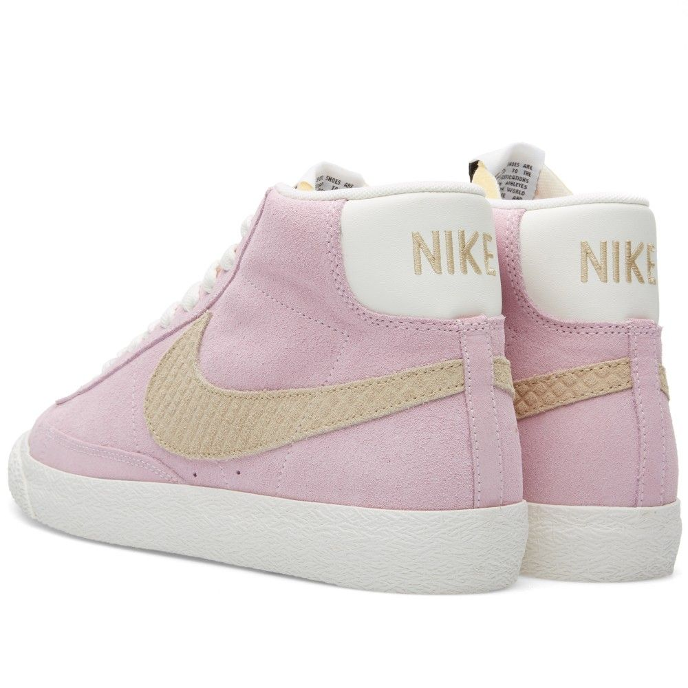 100% high quality run shoes good texture Nike Blazer Mid Premium Vintage QS (Prism Pink, Sand Dune ...
