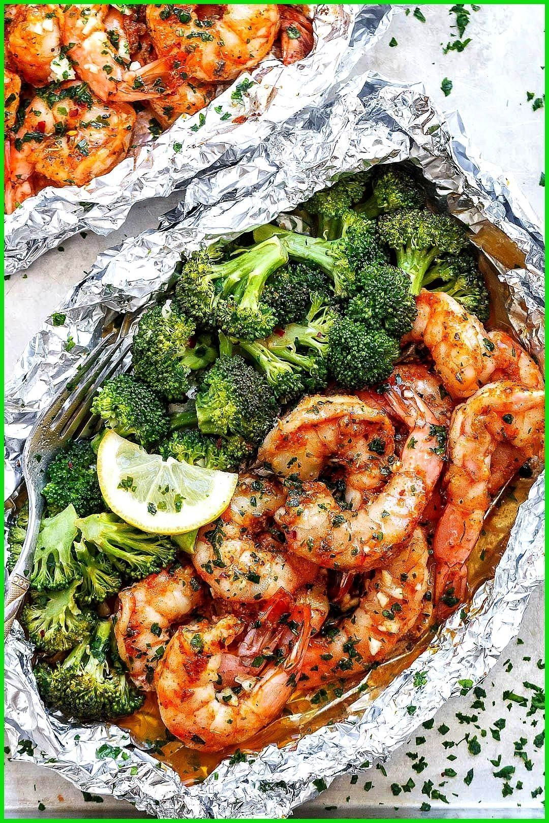 and Broccoli Foil Packs with Garlic Lemon Butter Sauce Shrimp and Broccoli Foil Packs with Garlic L