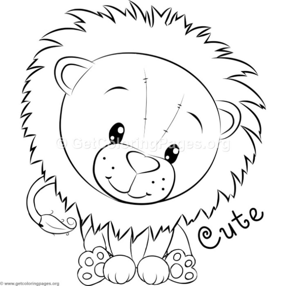 Little Lion Coloring Pages Getcoloringpages Org Lion Coloring