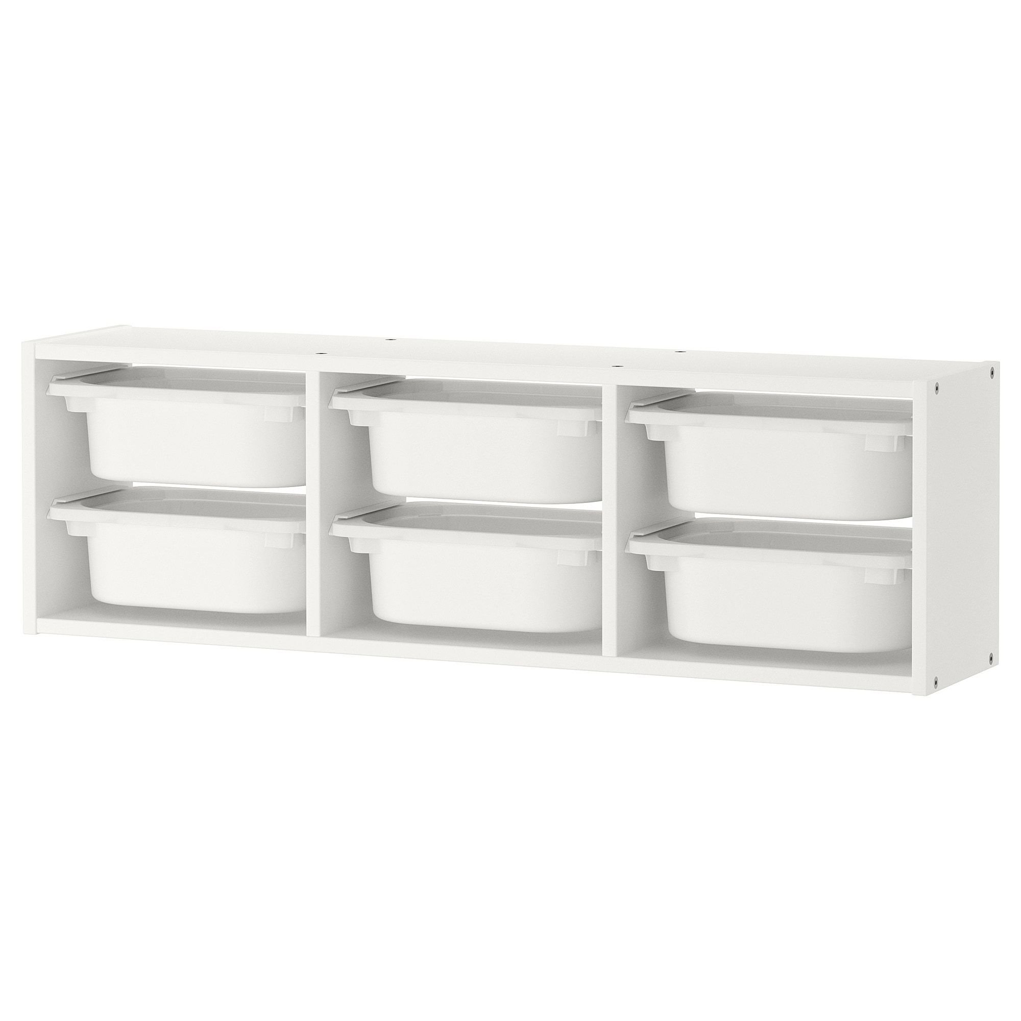Ikea Trofast White White Wall Storage Wall Storage Kids