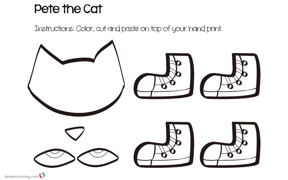 Pete the Cat Coloring Pages Crafts (With images) Pete