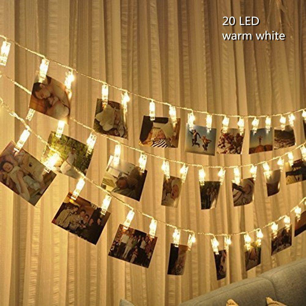 Hankin LED Photo String Lights,Christmas Lights Starry light Wall ...