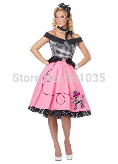"ROCK N ROLL POLKA DOT SKIRT 21/"" Length /'50s GREASE LADIES FANCY DRESS COSTUME"