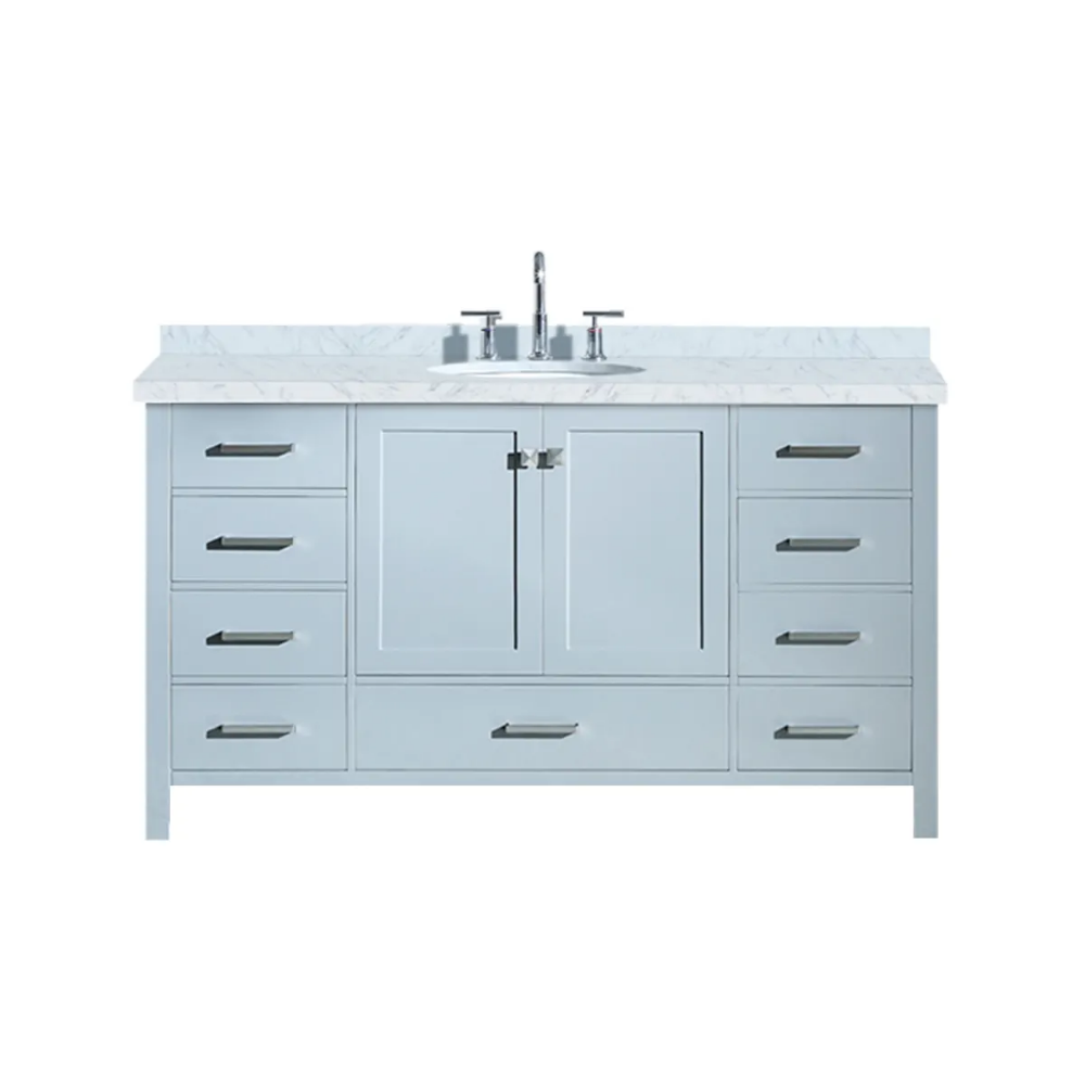Ariel A061s Vo Esp Cambridge 61 Floor Mounted Build Com Marble Vanity Tops Ceramic Bathroom Sink Vanity 61 vanity top single sink
