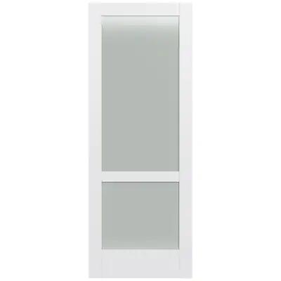 Masonite Riverside Midnight 5 Panel Door Made Of Solid Composite Material With The Same Core Often 36 X 80 Inches Actual In 2020 Slab Door Glass Panel Door Paneling