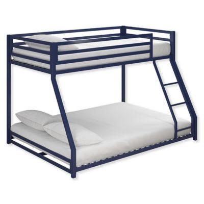 Mason Twin Over Full Metal Bunk Bed In Blue In 2019 Metal Bunk