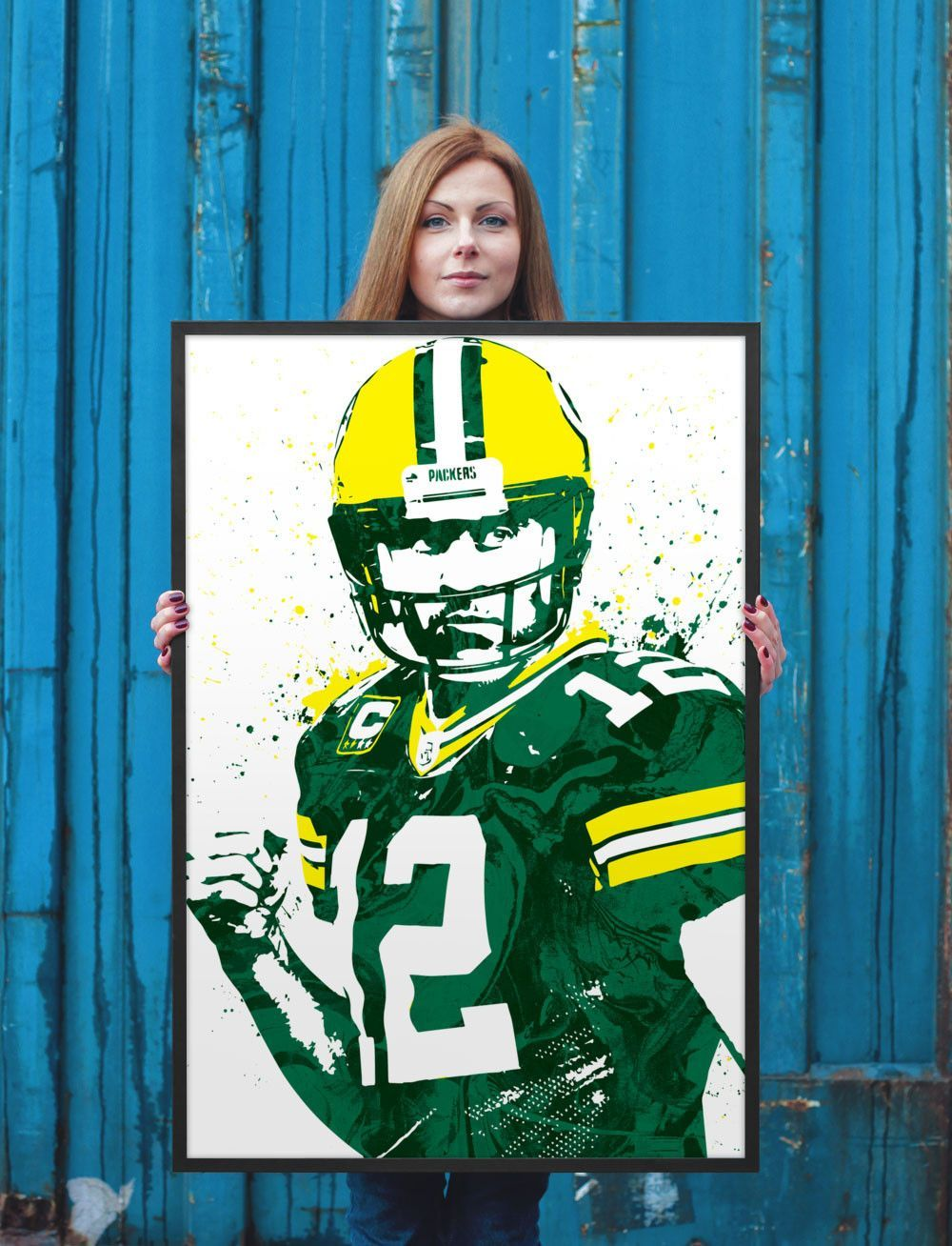 Aaron Rodgers Green Bay Packers Poster Sports Art Print Rodgers Green Bay Sports Art