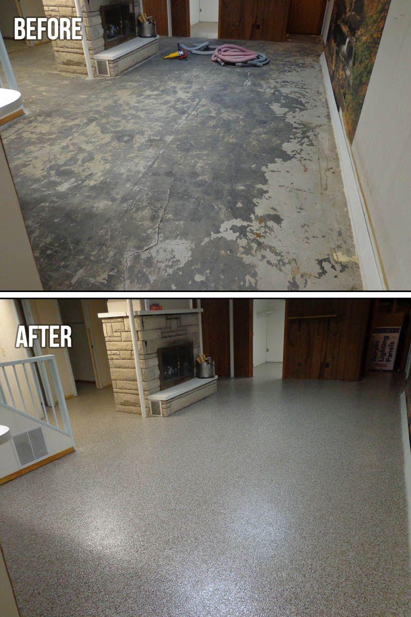 Flood proof basement floor 1000s of permanent colorful