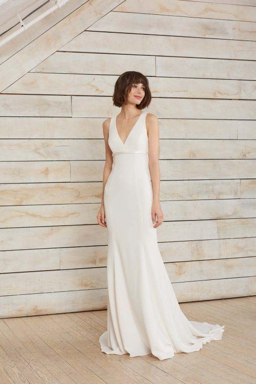 Frankie Petite Bride Wedding Dresses Simple Wedding Gowns