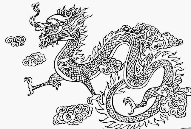 Chinese Coloring Dragon Face Pages 2020 Dragon Coloring
