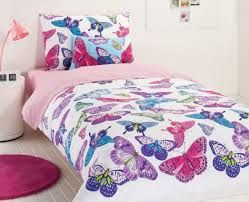 kids bedding colourful butterflies