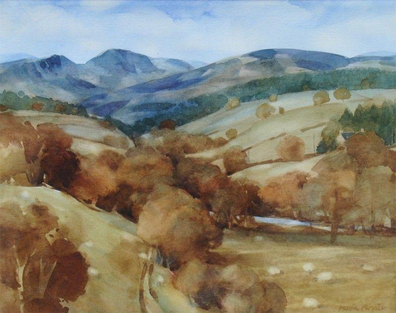Glen Clova Autumn by Moira Ferrier RSW