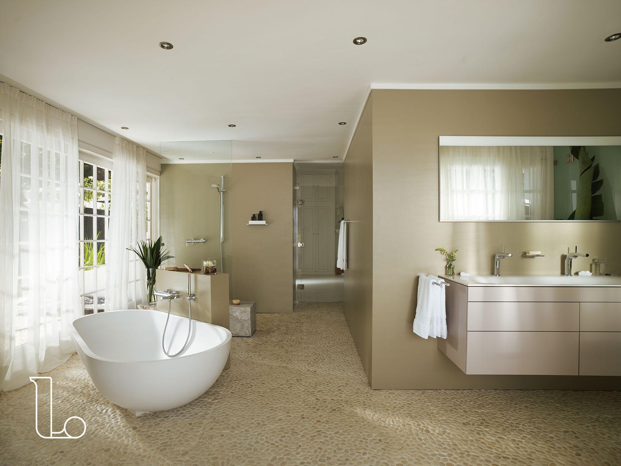 Inloopdouche Met Badkamer : Badkamerinspiratie deze ruimtelijke badkamer met rustige