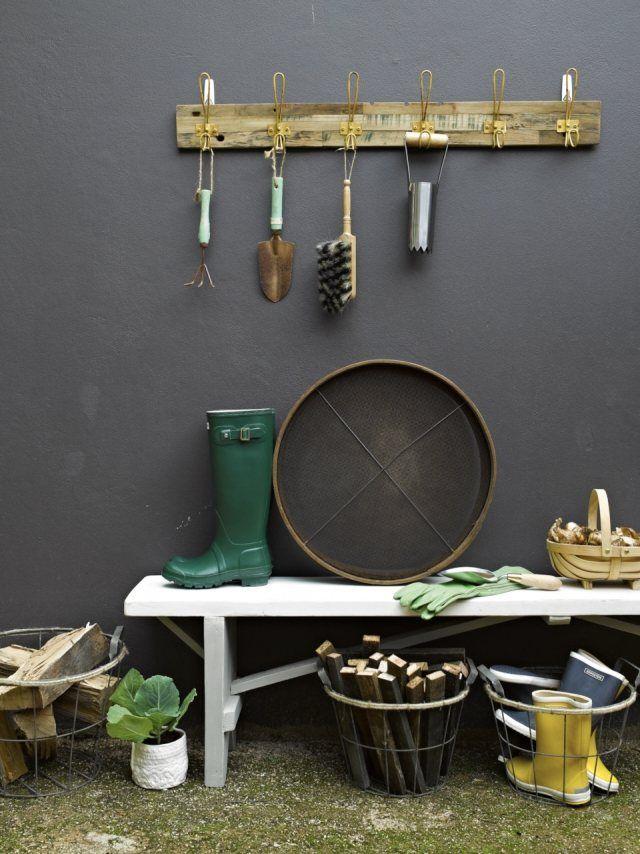 Aufbewahrung Gartengeräte Ideen Alte Garderobe Sitzbank | Interior ... Aufbewahrung Gartengerate Ideen