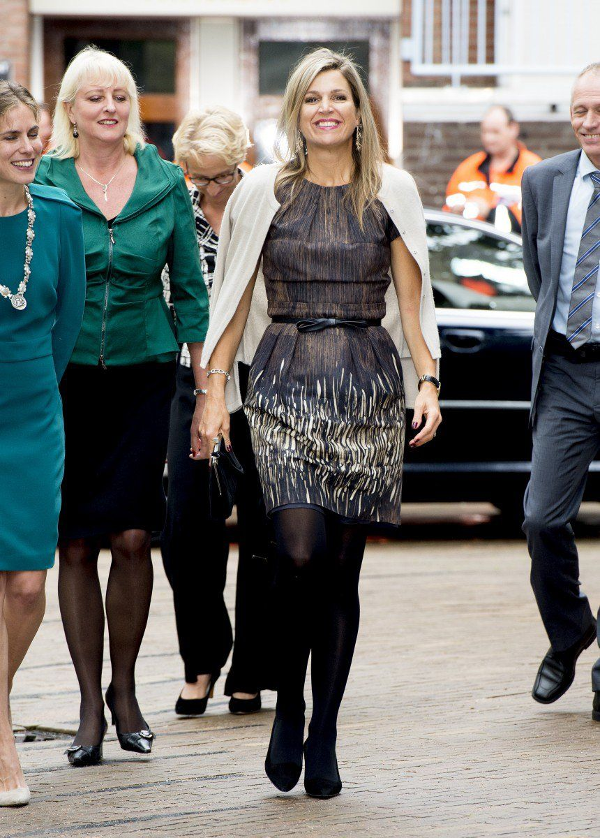 Máxima looked great in a dress by favourite Natan from 2010.