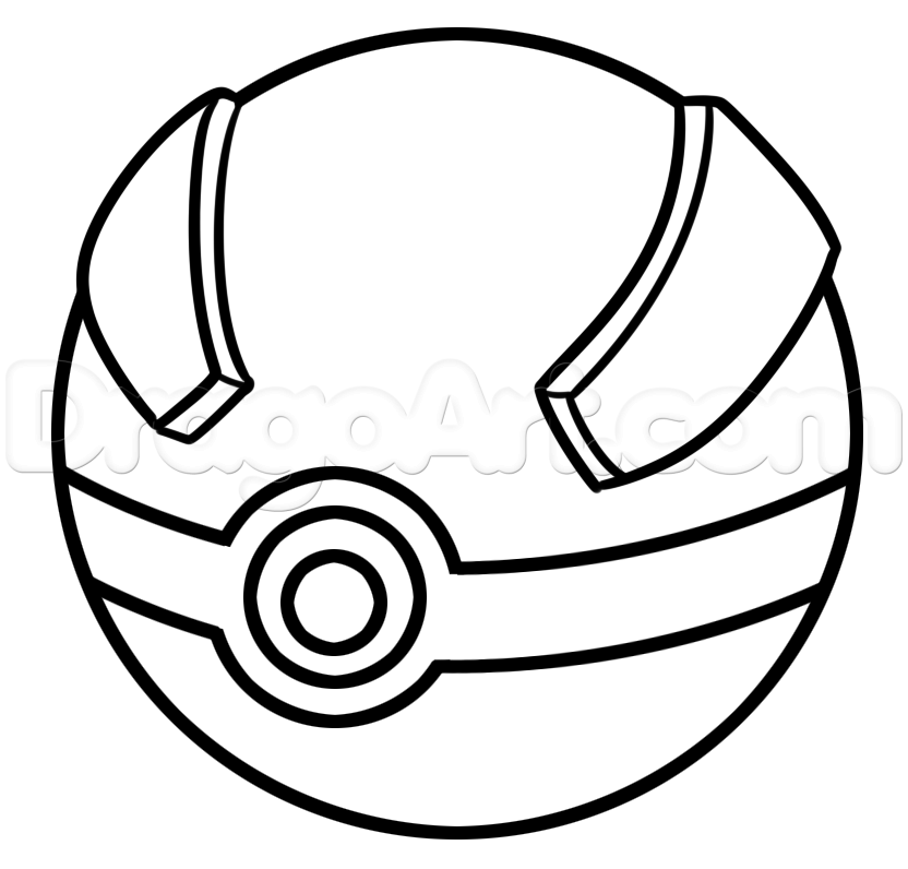 How To Draw A Great Ball From Pokemon Step 4 1 000000185664 5 Png 832 796 Pikachu Coloring Page Pokemon Ball Pokemon Coloring Pages