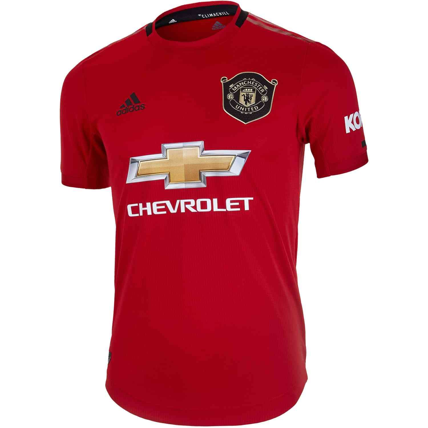 2019 20 Adidas Manchester United Home Authentic Jersey Soccerpro Manchester United The Unit Jersey