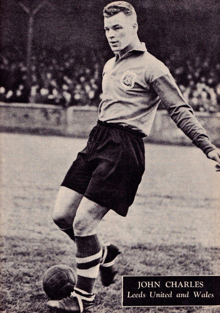 John Charles of Leeds Utd in 1956 1950s Football