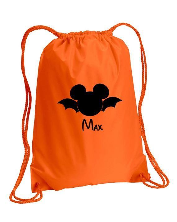 Pesonalized Halloween BagTrick or Treat Bag,Mickey sinch bag,Halloween Drawstring bag,Trick or treat tote,Halloween bag,Mickey