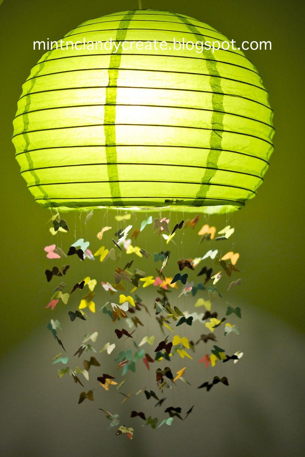 Mint Clandy Create Butterfly Lamp Fly Away With Me Mobile Part 3 Butterfly Lamp Diy Butterfly Paper Lanterns