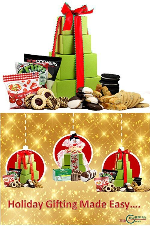 Super sized holiday delight gluten free gift tower gourmet holiday delight gluten free gift tower gourmet gift baskets gourmet negle Choice Image