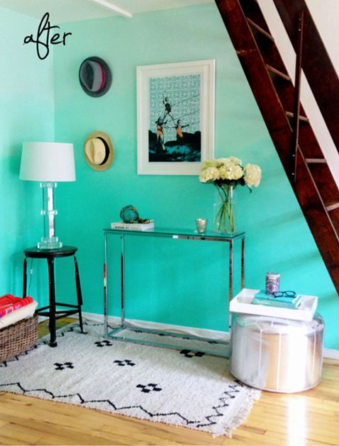 Mint Green Rooms mint ombre wall | mint green rooms, green rooms and mint green