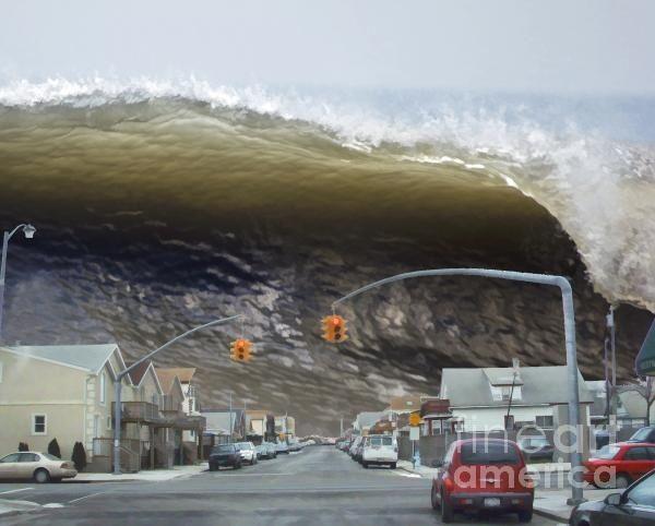 Global warming impact: tsunami