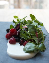 Savory Berry-and-Watercress Salad  Recipe from the Tasting Table Test Kitchen