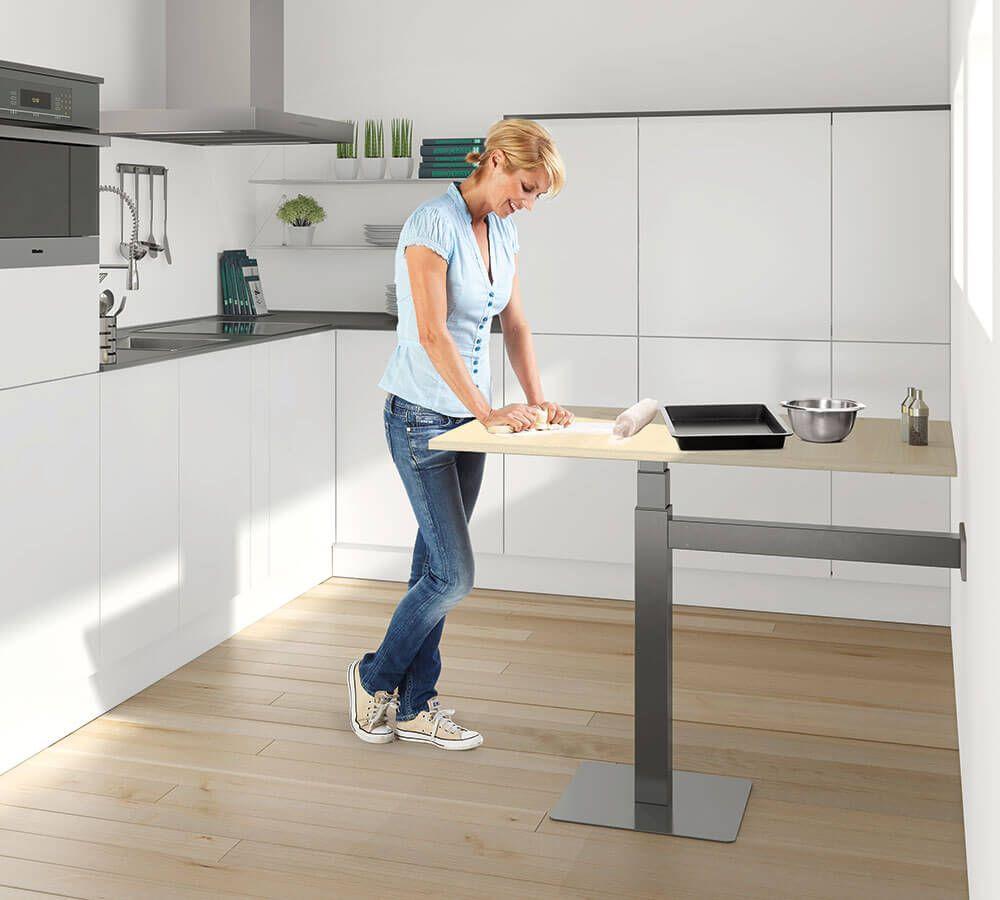 Hohenverstellbare Kuchentische Ergoagent Mit Bildern Kuche Tisch Kuchentisch Arbeitsplatte