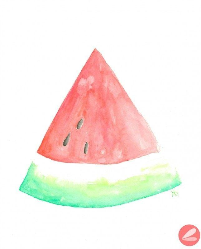 Watercolor Watermelon Printable Watermelon Art Printable Art