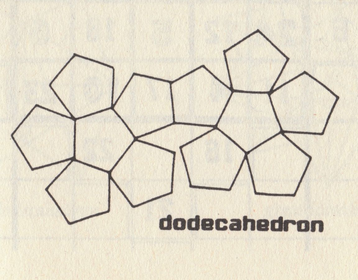 Dodecahedrong 1151900 Platonic Solids Templates Art