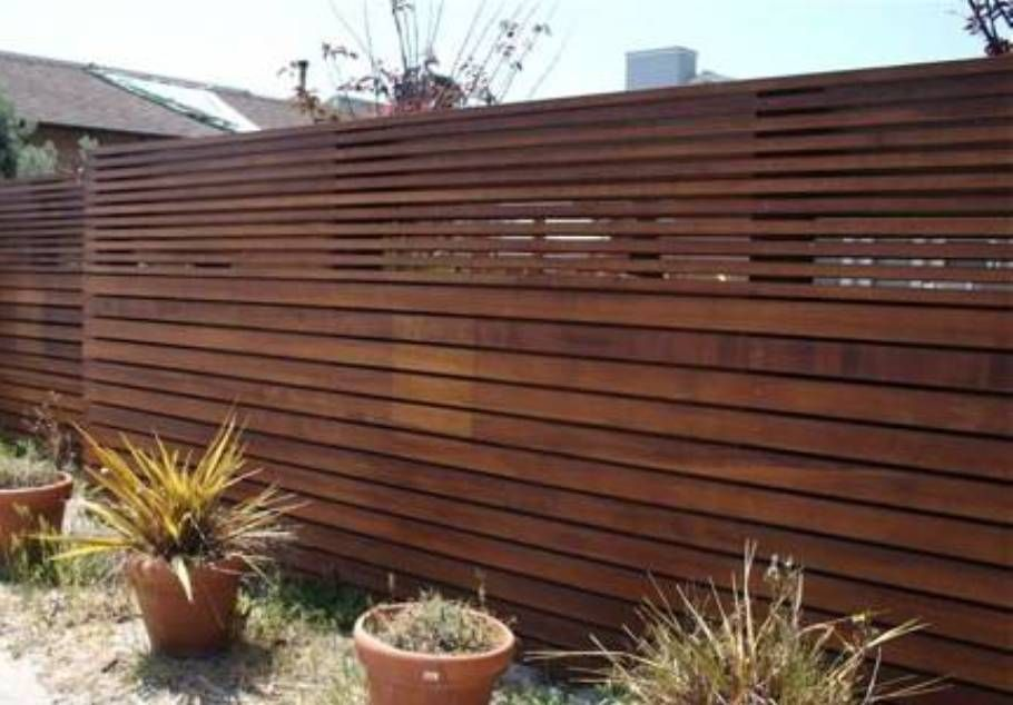 Modern Wooden Horizontal Fencing Gardens : The Advantages Of Fencing Gardens.  Fence Garden Design Ideas,fence In Garden,fencing Garden Ideas,wire Fencing  ...