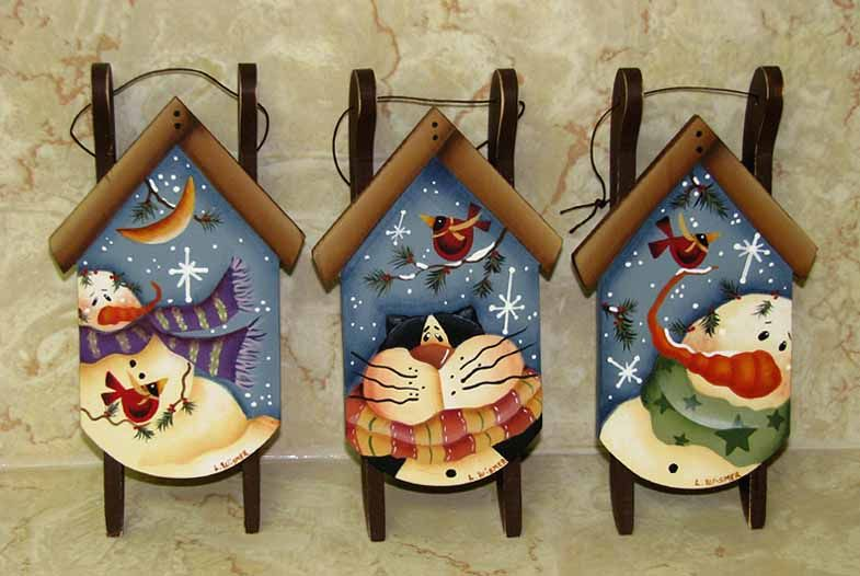Pictures Of Wooden Painted Christmas Decorations