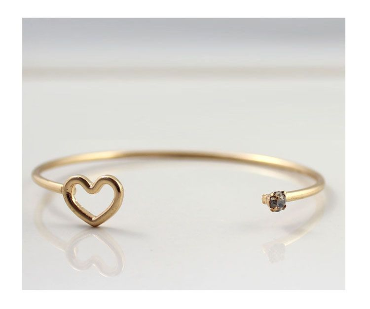 1 heart shaped gold silver bangles cute outfits