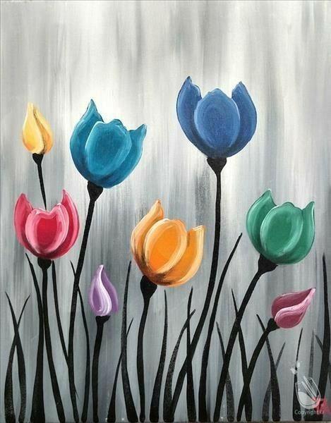 Drawing Flores Pintadas Pintura De Arte Pintura Acrilica Para Principiantes