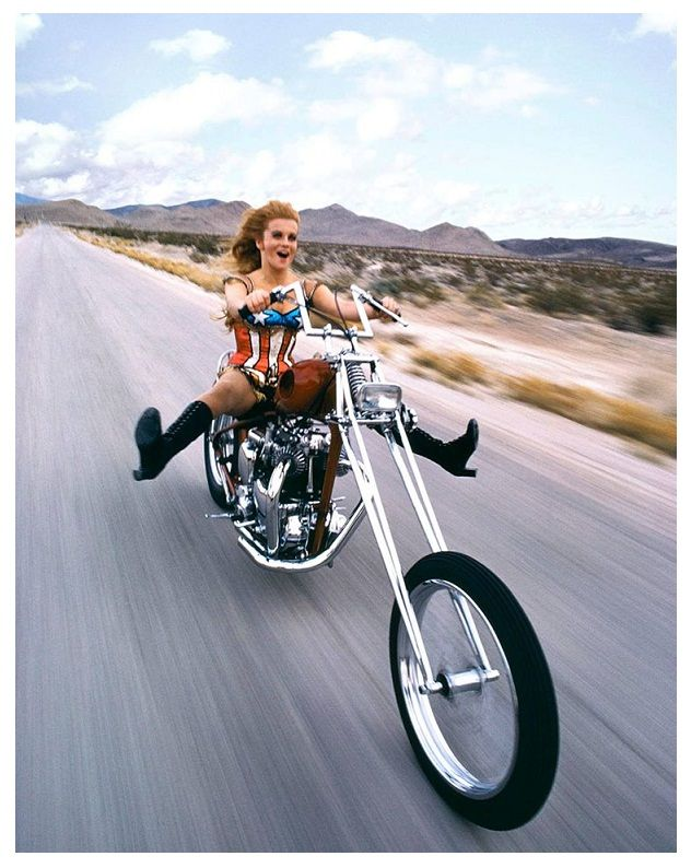Ann Margret. ☀motorcycle 60s 70s highway color photo print magazine