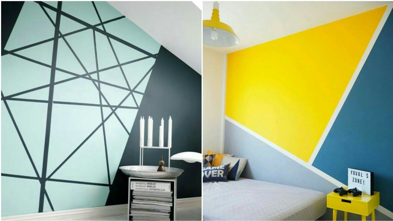 how to paint stripes on a wall youtube
