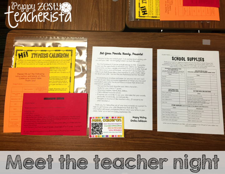 Meet the Teacher 2015-2016 #meettheteacherideas
