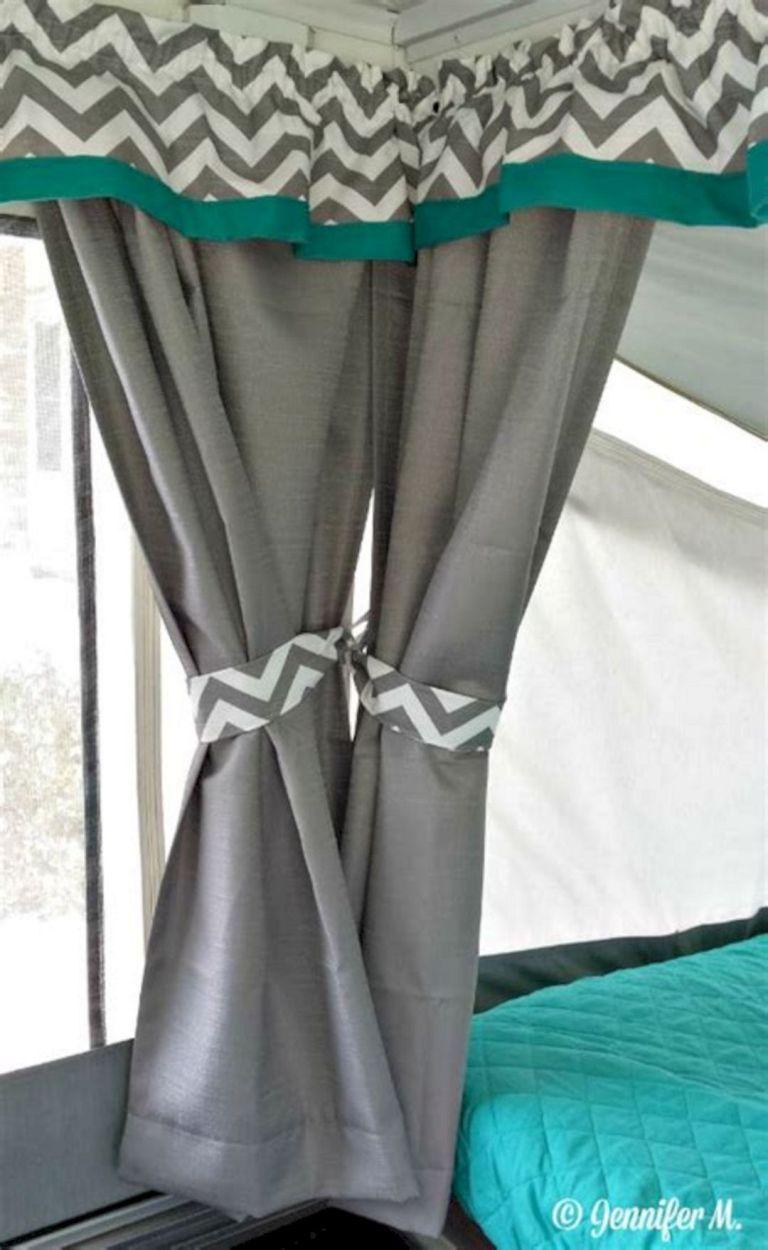RV Curtain Design 14 | RV Camper Ideas | Remodeled campers