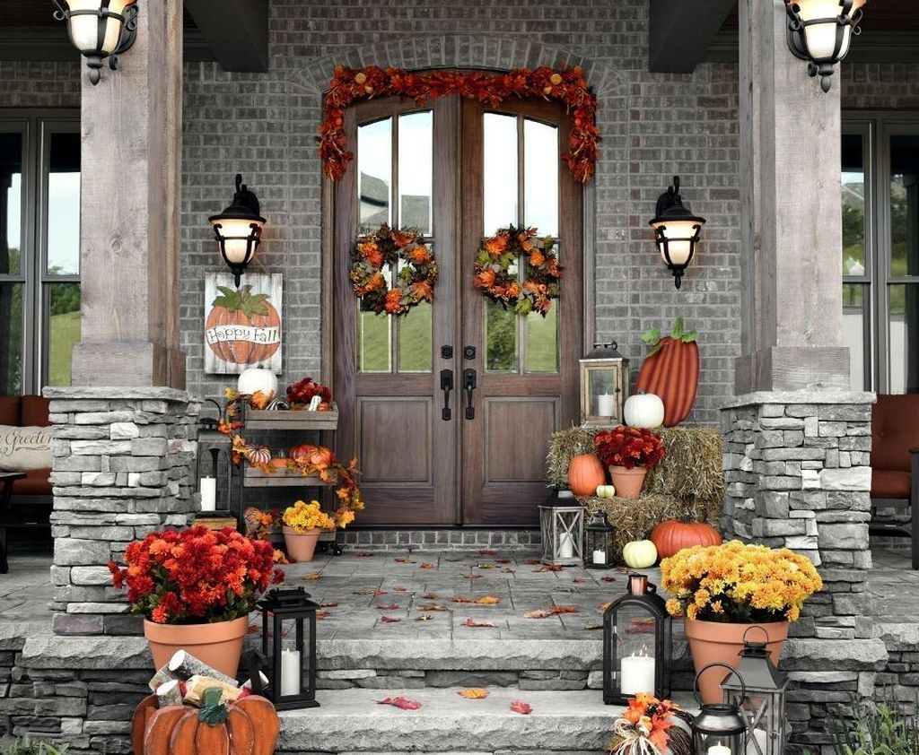 Pin by Lisa Floyd on Cute & Clever DIY  Fall decorations porch