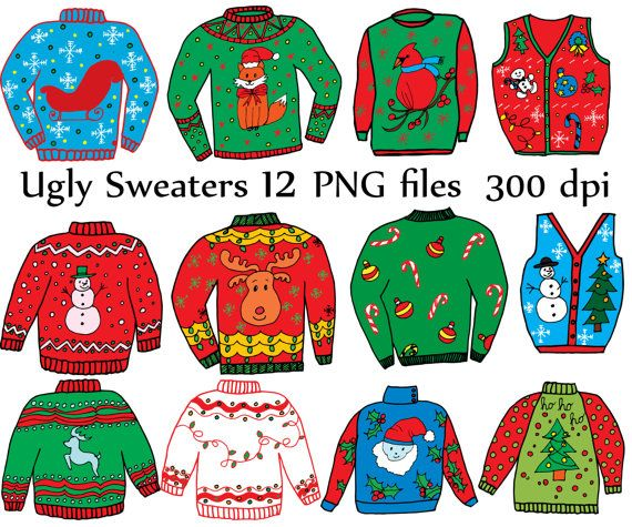 Christmas Sweater Clipart.Pin On Products