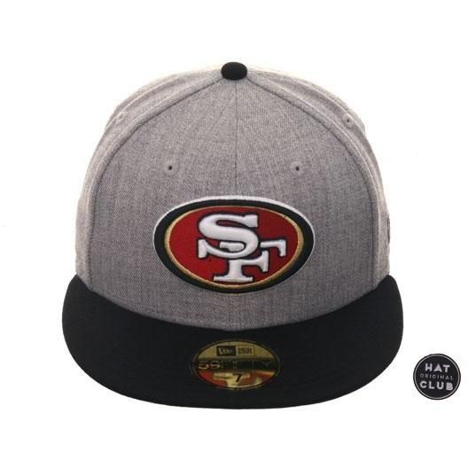 purchase cheap d4a05 a7507 Exclusive New Era 59Fifty San Francisco 49ers Hat - 2T Heather Gray, Black,   39.99