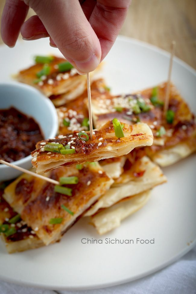 Spiced multi layer chinese pancake recipe chinese pancake spiced multi layer chinese pancake forumfinder Image collections