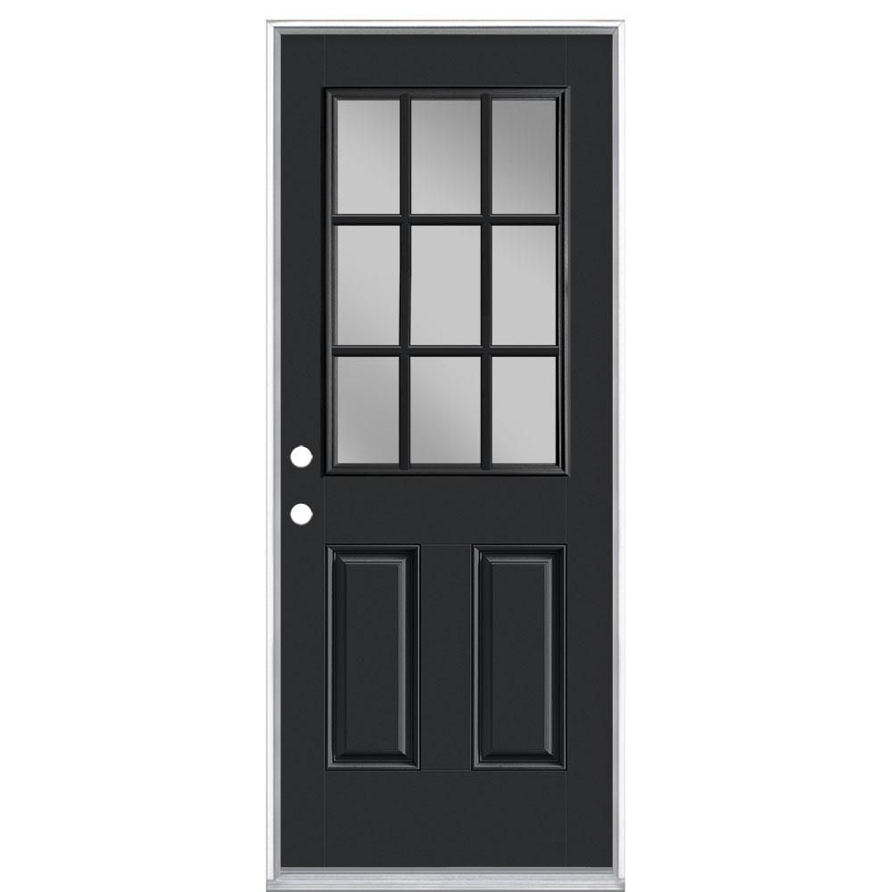 Krosswood Doors 32 In X 96 In Classic French Alder 12 Lite Clear Low E Glass Right Hand Unfi In 2020 Craftsman Exterior Door Exterior Doors With Glass French Cottage